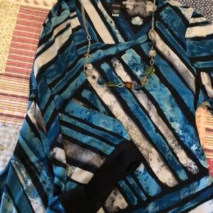 Alfani asymmetric blouse.